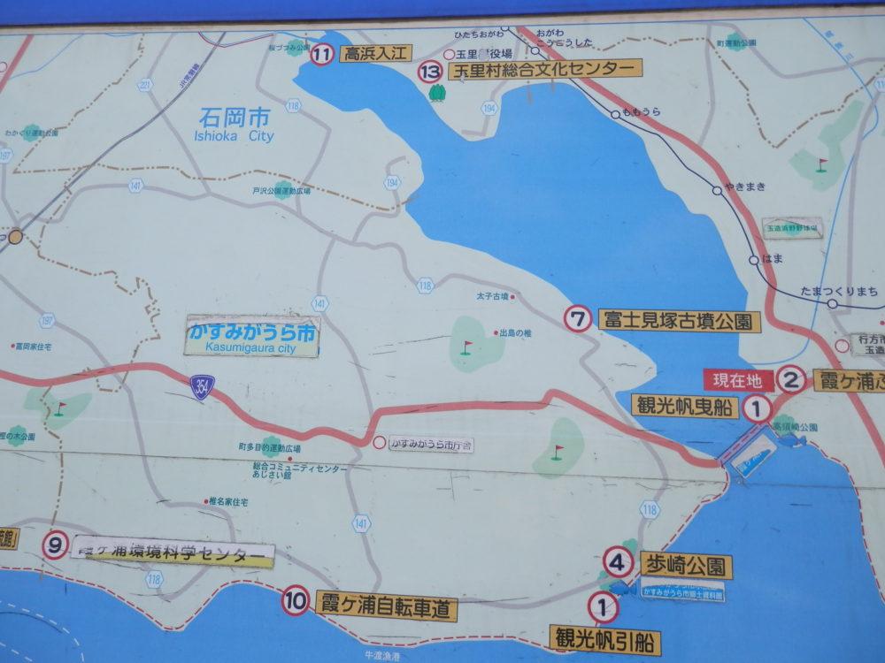 霞ケ浦湖岸広域案内図