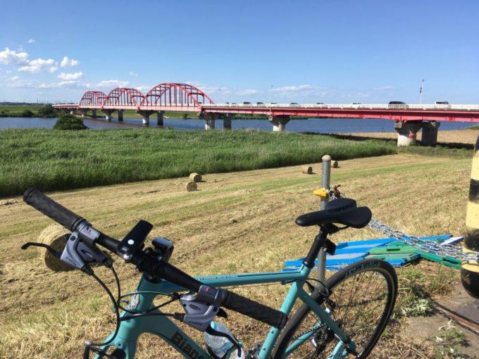 利根川サイクリングロードを走るROMA3