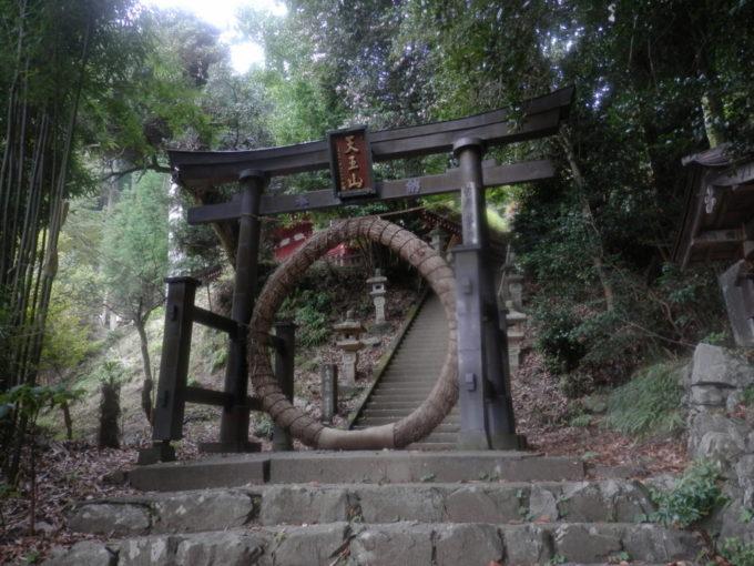 竹寺の本殿登り口鳥居