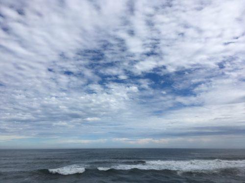 茨城県の国道6号線沿いから見る太平洋