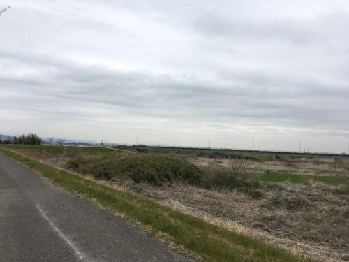 思川沿いのサイクリングロード