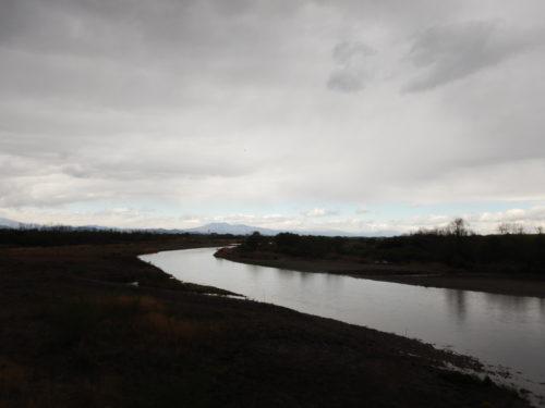 桑島大橋から見た鬼怒川