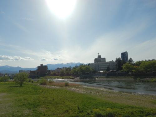 福島県福島市の阿武隈川