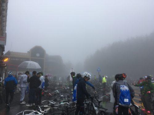 富士ヒルのフィニッシュ地点、富士山五合目