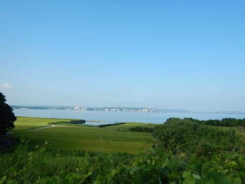 能登島から見る七尾湾