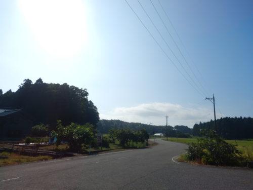 能登島の田尻町と久木町の境目
