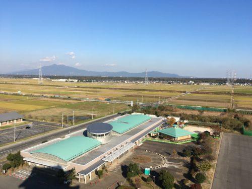 常総市地域交流センター(豊田城)展望室からの眺め