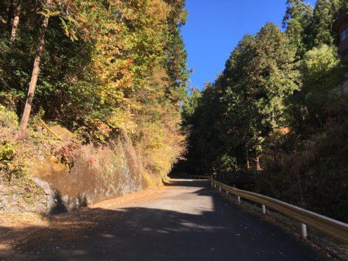 仁田山峠の入り口
