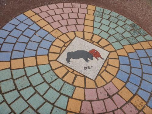 うるま市の闘牛路上アート