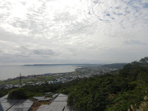 中城城跡近くの沖縄県道146号