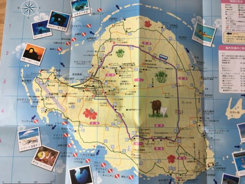 与論島ガイドマップ