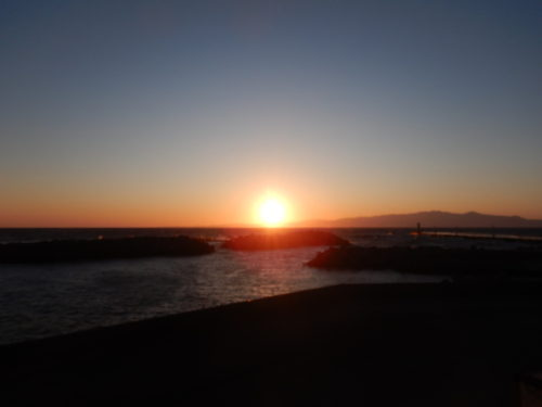 伊豆大島の夕日