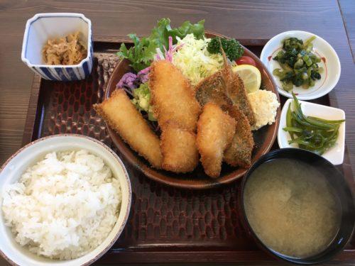三浦半島のぼーめんの地魚フライ定食