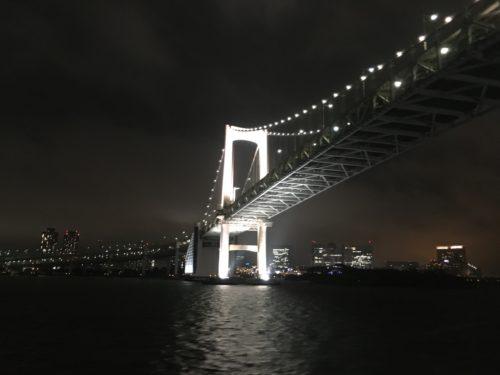 大型客船からのレインボーブリッジ