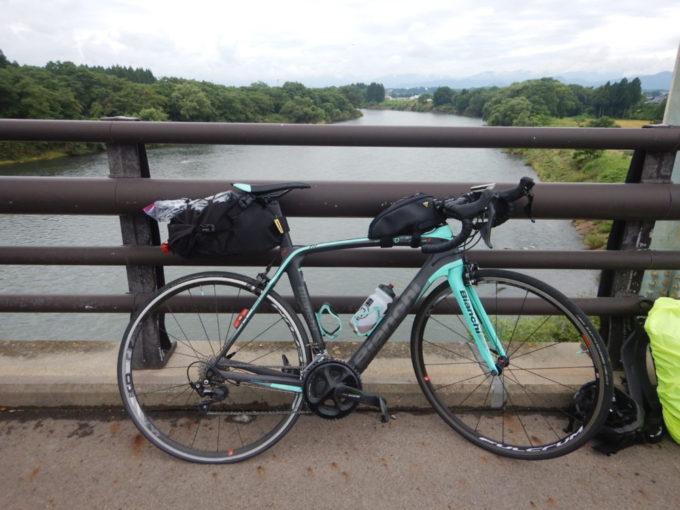 一級河川『北上川』とロードバイク