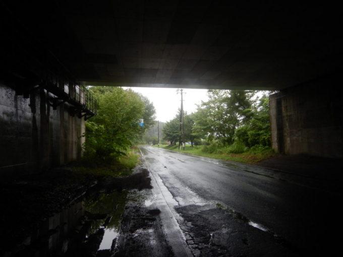 岩手県道219号の高架下で雨宿り