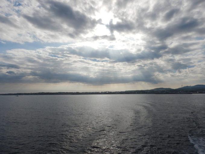 津軽海峡フェリーから見る大間町