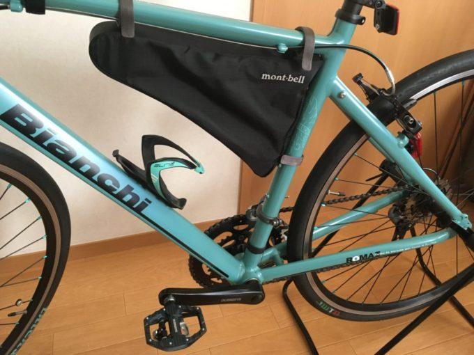 クロスバイクのフレームバッグ