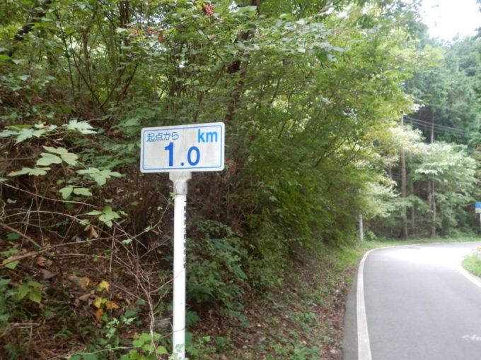 白石峠、起点から1km地点