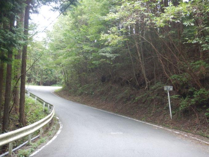 白石峠、起点から3km地点