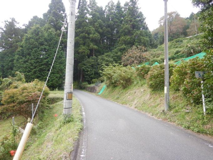 白石峠、起点から5km地点