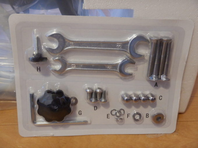 HAIGE(ハイガー)のスピンバイク『HG-YX-5006』の工具・ボルト類