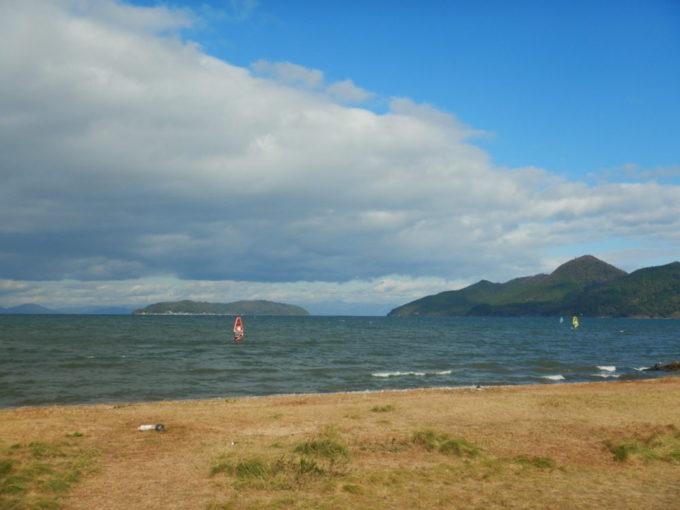 琵琶湖のウインドサーフィン