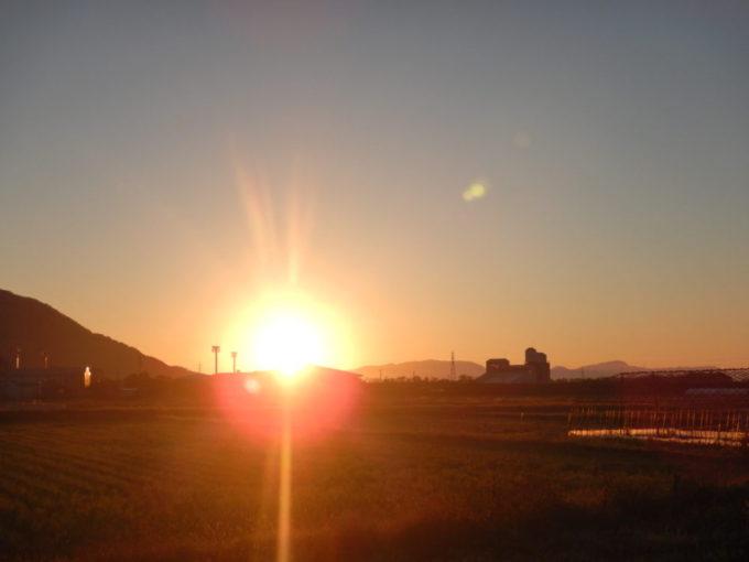 高島市マキノ町の朝日