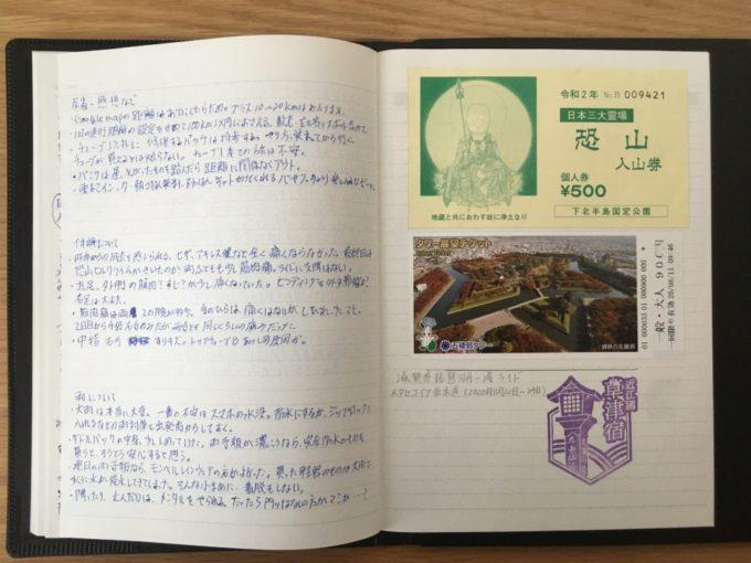 トラベルノート・チケット