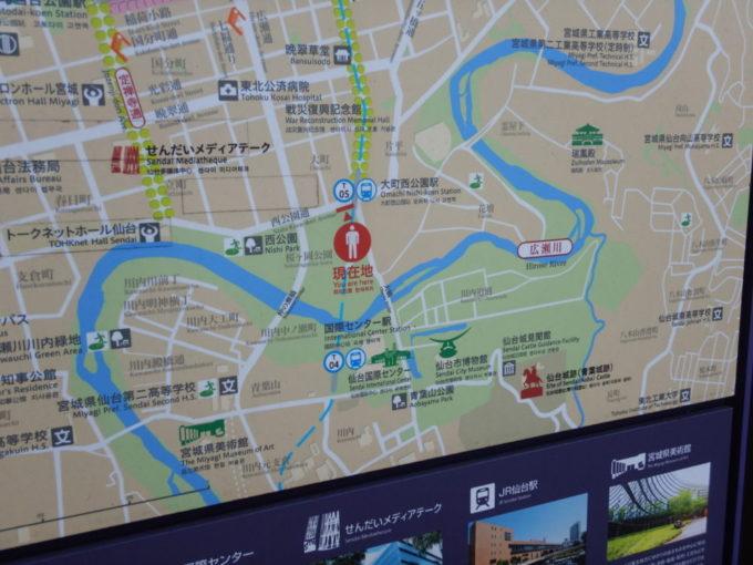 仙台市の地図